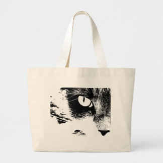 maddie black and white large tote bag