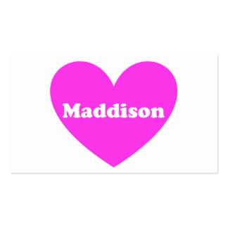 Maddison Tarjeta De Visita