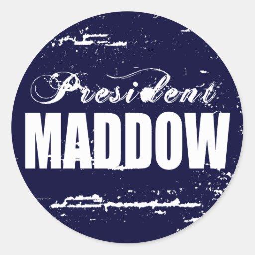 MADDOW 2012 CLASSIC ROUND STICKER