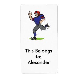 made a touchdown football player label