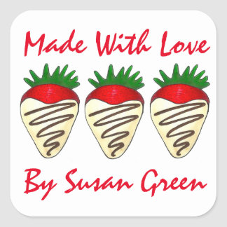 Made Baked with Love Personalized Candy Stickers