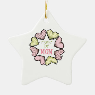 MADE BY MOM Double-Sided STAR CERAMIC CHRISTMAS ORNAMENT