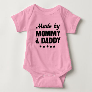 Made by Mommy & Daddy Baby Bodysuit