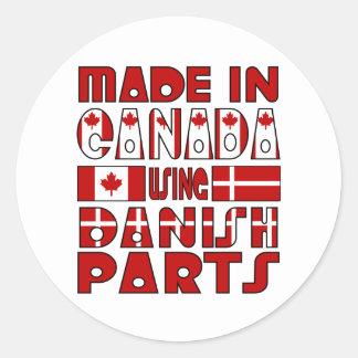 Made Canada Danish Parts Classic Round Sticker
