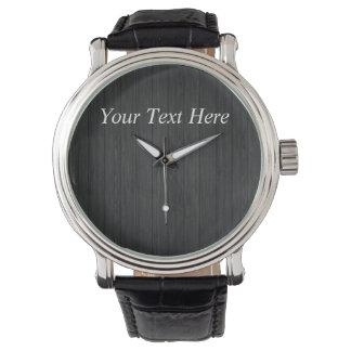 Made Custom - Gifts Men Black Bracelet Wrist Watch