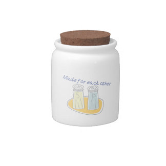 Made for each other candy jar