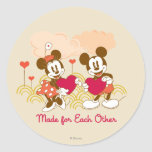 Made for Each Other Classic Round Sticker