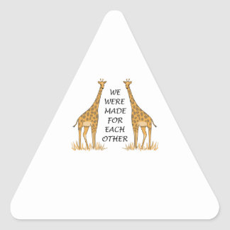 MADE FOR EACH OTHER TRIANGLE STICKER