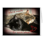 Made for Each Other Valentine's Card with cute cat