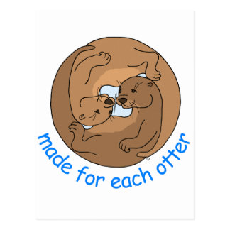 Made For Each Otter Postcard