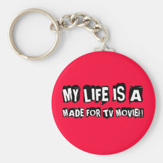 made for TV Basic Round Button Keychain