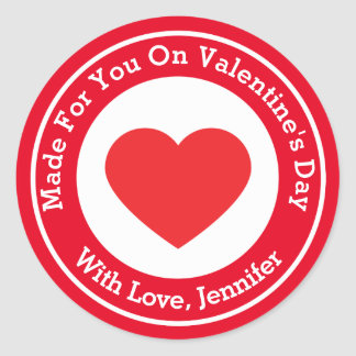 Made For You On Valentine's Day Classic Round Sticker