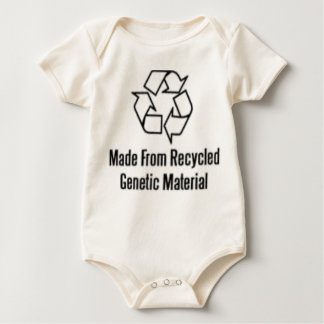 Made From Recycled Genetic Material Baby Bodysuit