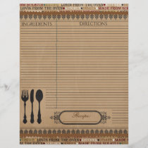 Made From Scratch Recipe Insert