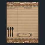 "Made From Scratch Recipe Insert Letterhead<br><div class=""desc"">These elegant Made From Scratch recipe inserts are the perfect match to our Made From Scratch recipe binder,  or for any recipe organizer. Matching recipe binder sold here: https://www.zazzle.com/made_from_scratch_recipe_binder-127614104072666326</div>"