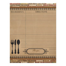 Made From Scratch Recipe Insert Letterhead