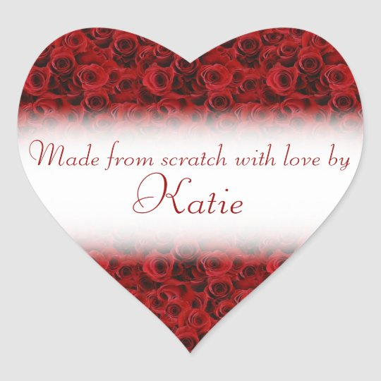 Made from scratch with love by heart stickers