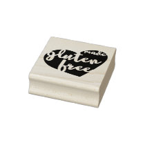 Made Gluten Free Heart Bakery Wheat Free Rubber Stamp