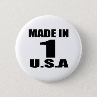 MADE IN 01 U.S.A BIRTHDAY DESIGNS BUTTON