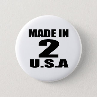 MADE IN 02 U.S.A BIRTHDAY DESIGNS PINBACK BUTTON