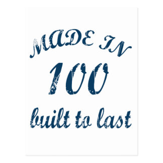 Made In 100 Postcard