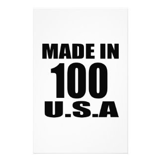 MADE IN 100 U.S.A BIRTHDAY DESIGNS STATIONERY