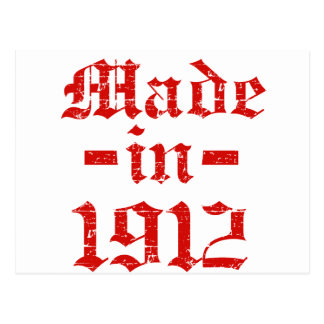 Made in 1912 designs postcard