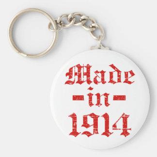 Made in 1914 designs basic round button keychain
