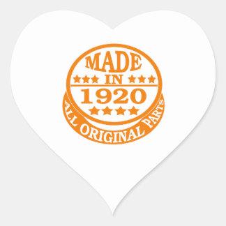 Made in 1920 all original parts heart sticker