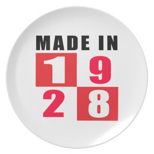 Made In 1928 Party Plate