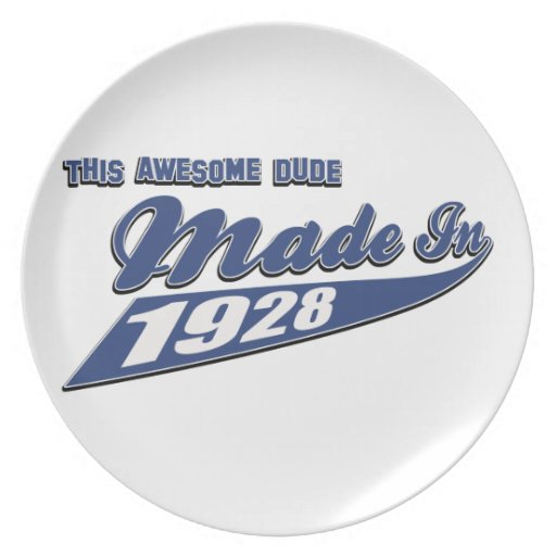 Made in 1928 party plates