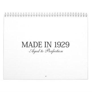Made in 1929 calendar