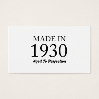 Made In 1930 Business Card