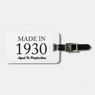 Made In 1930 Luggage Tag