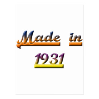 MADE IN 1931 POSTCARD