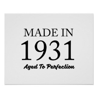 Made In 1931 Poster