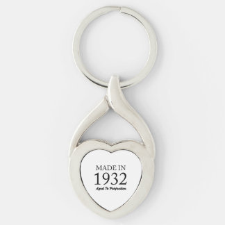 Made In 1932 Keychain