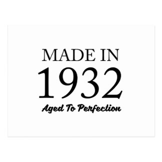 Made In 1932 Postcard