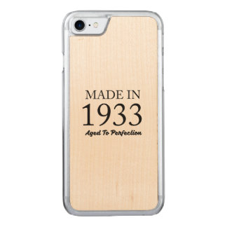 Made In 1933 Carved iPhone 8/7 Case