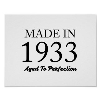 Made In 1933 Poster