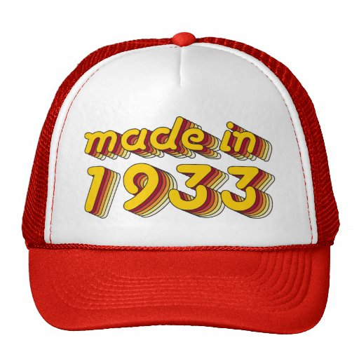 Made in 1933 (Yellow&Red) Hats