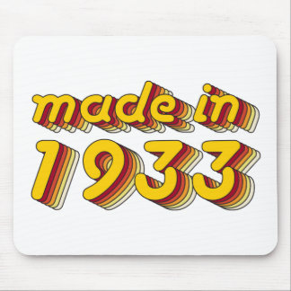 Made in 1933 (Yellow&Red) Mouse Pad