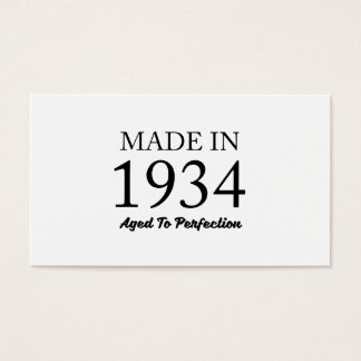 Made In 1934 Business Card