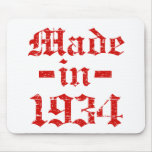 Made in 1934 designs mouse pad