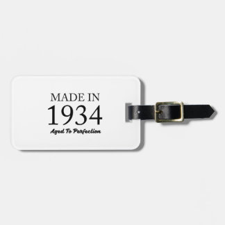 Made In 1934 Luggage Tag