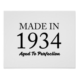 Made In 1934 Poster