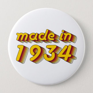 Made in 1934 (Yellow&Red) Button