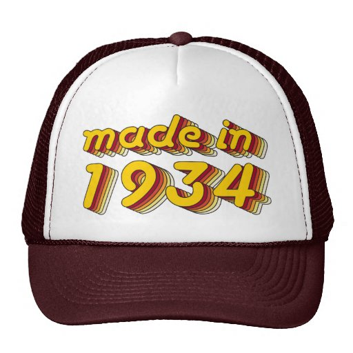 Made in 1934 (Yellow&Red) Mesh Hats