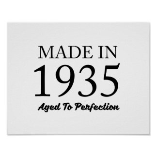 Made In 1935 Poster