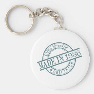 Made in 1936 basic round button keychain